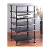 VTI AR406 6 Shelf Black Audio Rack
