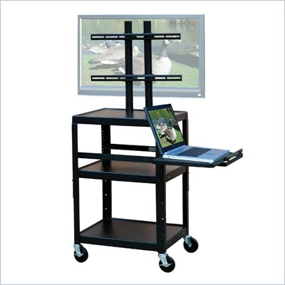 VTI Adjustable Cart for up to 32&quot; Flat Panel TV w/ Pull Out Shelf