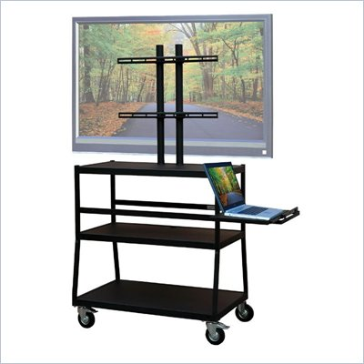 VTI Wide Body Cart for up to 47&quot; Flat Panel TV w/ Pull Out Shelf
