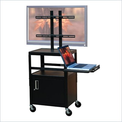 VTI Adjustable Cabinet Cart for up to 32&quot; Flat Panel TV w/ Pull Out Shelf