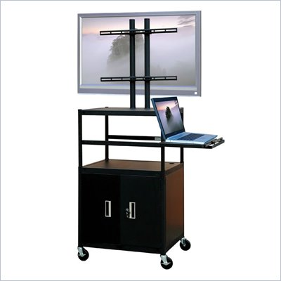 VTI Adjustable Cabinet Cart for up to 47&quot; Flat Panel TV w/ Pull Out Shelf