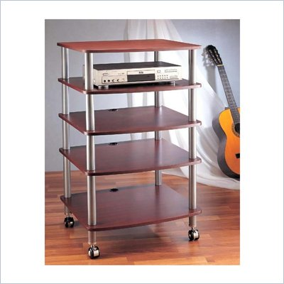 VTI AR405 5 Shelf Audio Rack with Casters