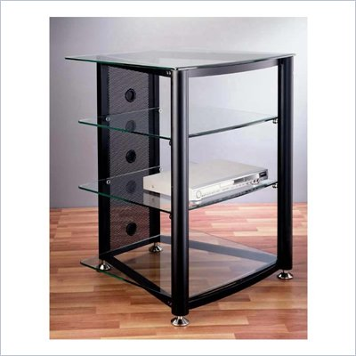 VTI RGR-404  4 Shelf Black Audio Rack
