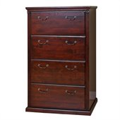 Kathy Ireland Home by Martin Furniture Huntington Club 4 Drawer Lateral File Storage Cabinet in Distressed Cherry