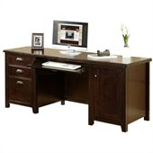 Kathy Ireland Home by Martin Furniture Tribeca Loft Wood Credenza Desk in Cherry 