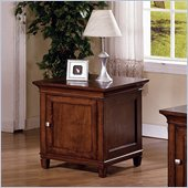 Martin Furniture Bradley Wood End Table in Cherry