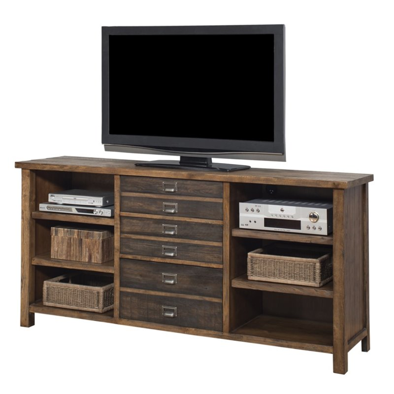 Martin Furniture Heritage TV Stand in Hickory