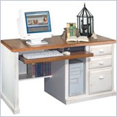Kathy Ireland Home by Martin Furniture Southampton Deluxe Wood Computer Desk in Maple