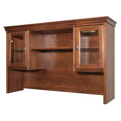 Martin Furniture Huntington Oxford Storage Hutch in Burnish