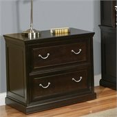 Kathy Ireland By Martin Fulton Office 2 Drawer Lateral Wood File in Rich Espresso
