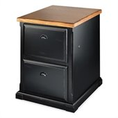 Kathy Ireland By Martin Southampton Office 2 Drawer File in Distressed Onyx
