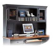 Kathy Ireland By Martin Southampton Office Deluxe Hutch in Distressed Onyx