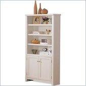 Kathy Ireland Home by Martin Furniture Tribeca Loft Lower Door 4 Shelf Wood Bookcase in White
