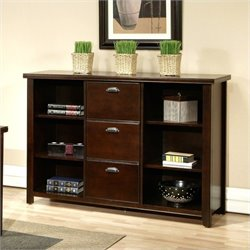 Kathy Ireland Home by Martin Tribeca Loft 3 Drawer Wood File Bookcase in Cherry