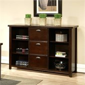 Kathy Ireland Home by Martin Furniture Tribeca Loft 3 Drawer Wood File Bookcase in Cherry