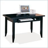 Kathy Ireland Home by Martin Tribeca Loft Wood Table Desk With Keyboard Pullout in Black