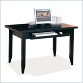 Kathy Ireland Home by Martin Furniture Tribeca Loft Wood Table Desk With Keyboard Pullout in Black 