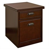 Kathy Ireland Home by Martin Tribeca Loft 2 Drawer Mobile Lateral Wood File Cabinet in Cherry