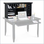 Kathy Ireland Home by Martin Furniture Tribeca Loft Black Hutch for Writing Table