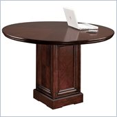 Kathy Ireland Home by Martin Furniture Mount View Round 4' Conference Table in Cherry Cobblestone