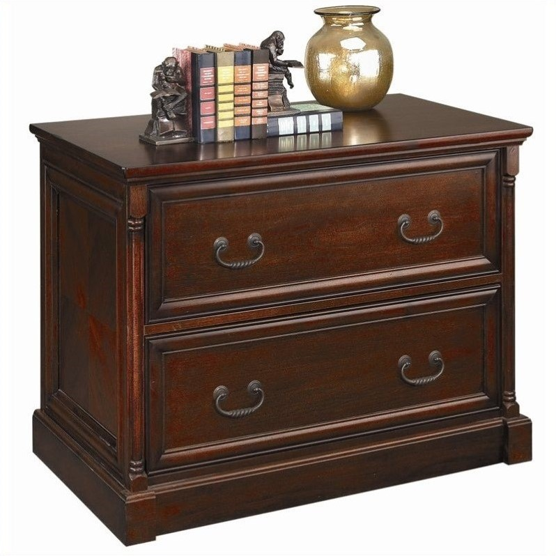 Kathy Ireland Home by Martin Mount View 2 Drawer Lateral File in Cherry Cobblestone