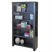 Kathy Ireland Home by Martin Furniture Tribeca Loft Office 60 Bookcase in Midnight Smoke