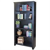 Kathy Ireland Home by Martin Furniture Tribeca Loft Office 70 Bookcase in Midnight Smoke