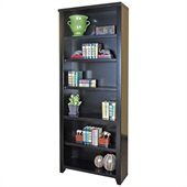 Kathy Ireland Home by Martin Furniture Tribeca Loft Office 84 Bookcase in Midnight Smoke