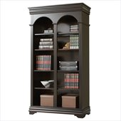 Martin Furniture Beaumont Office Double Open Bookcase in Deep Java