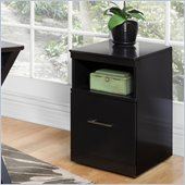 Kathy Ireland Home by Martin Office Mobile File Cabinet in Onyx