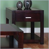 Martin Furniture Carlton End Table in Bourbon