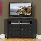 Kathy Ireland by Martin Crescent TV Stand Corner Unit in Black