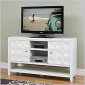 Kathy Ireland by Martin Crescent  36 Tall TV Stand in White