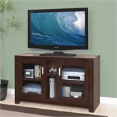 Kathy Ireland by Martin Carlton Mid Sized TV Stand in Bourbon