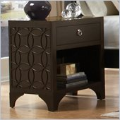 Martin Furniture Ellipse Nightstand in Graphite Finish