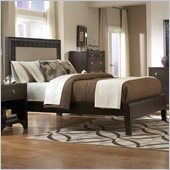 Martin Furniture Ellipse Panel Bed in Graphite Finish