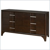 Martin Furniture Brookside 6 Drawer Dresser in Mocha Finish