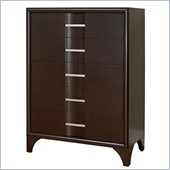 Martin Furniture Brookside 5 Drawer Chest in Mocha Finish
