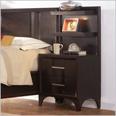 Martin Furniture Brookside Nightstand w/ Backer in Mocha Finish