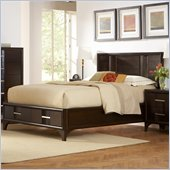 Martin Furniture Brookside Storage Bed in Mocha Finish