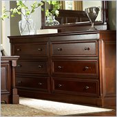 Martin Furniture Mount View Dresser in Cherry Cobblestone Finish