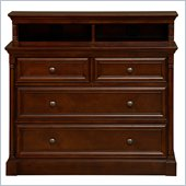 Martin Furniture Mount View Media Chest in Cherry Cobblestone Finish