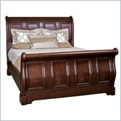 Martin Furniture Mount View Sleigh Bed in Cherry Cobblestone Finish
