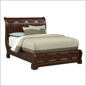 Martin Mount View Low Profile Sleigh Bed in Cherry Cobblestone