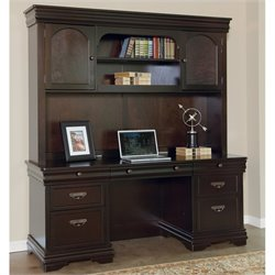 Martin Furniture Beaumont Computer Desk with Hutch in Deep Java Finish
