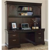 Martin Furniture Beaumont Computer Desk w/ Hutch in Deep Java Finish