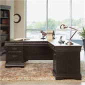Martin Furniture Beaumont Desk and Return in Deep Java Finish