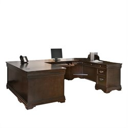 Martin Furniture Beaumont U-Shaped Desk in Deep Java Finish