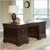 Martin Furniture Beaumont Double Pedestal Desk in Deep Java Finish