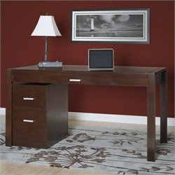 Kathy Ireland Home by Martin Carlton Laptop Writing Desk in Bourbon Finish